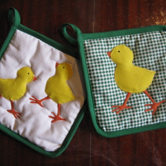Other - Set of 2 Adorbs Chick Potholders - New